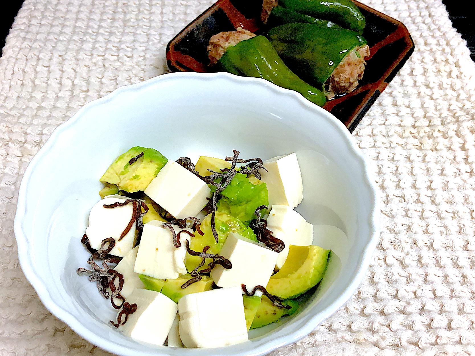 豆腐 アボカド