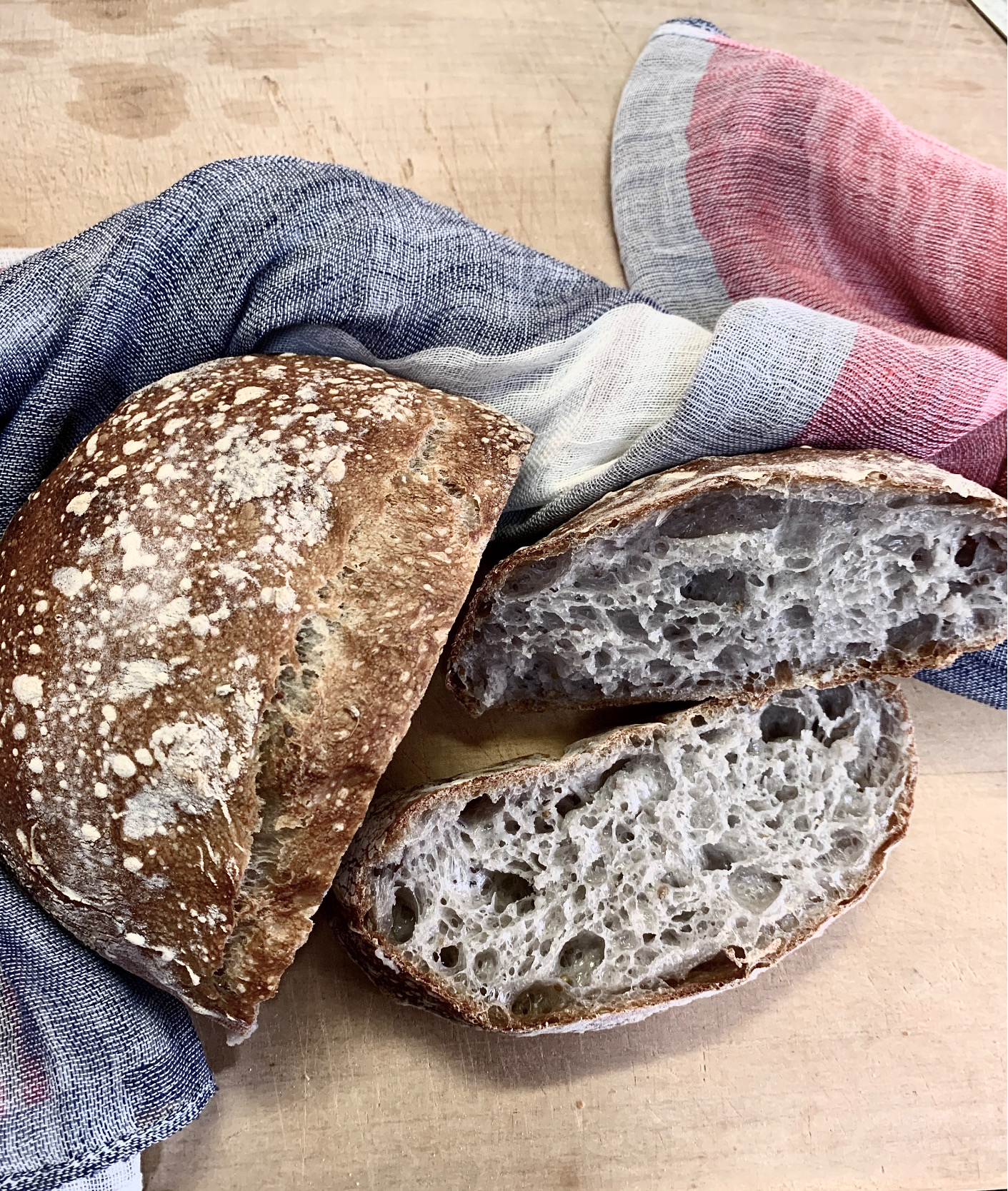 Anise Seed & Butterfly Pea Flower Rustic Sourdough Bread