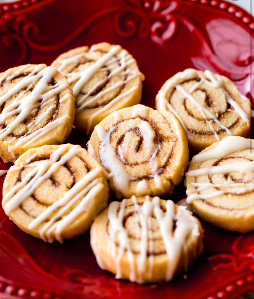 Soft cinnamon roll sugar cookies