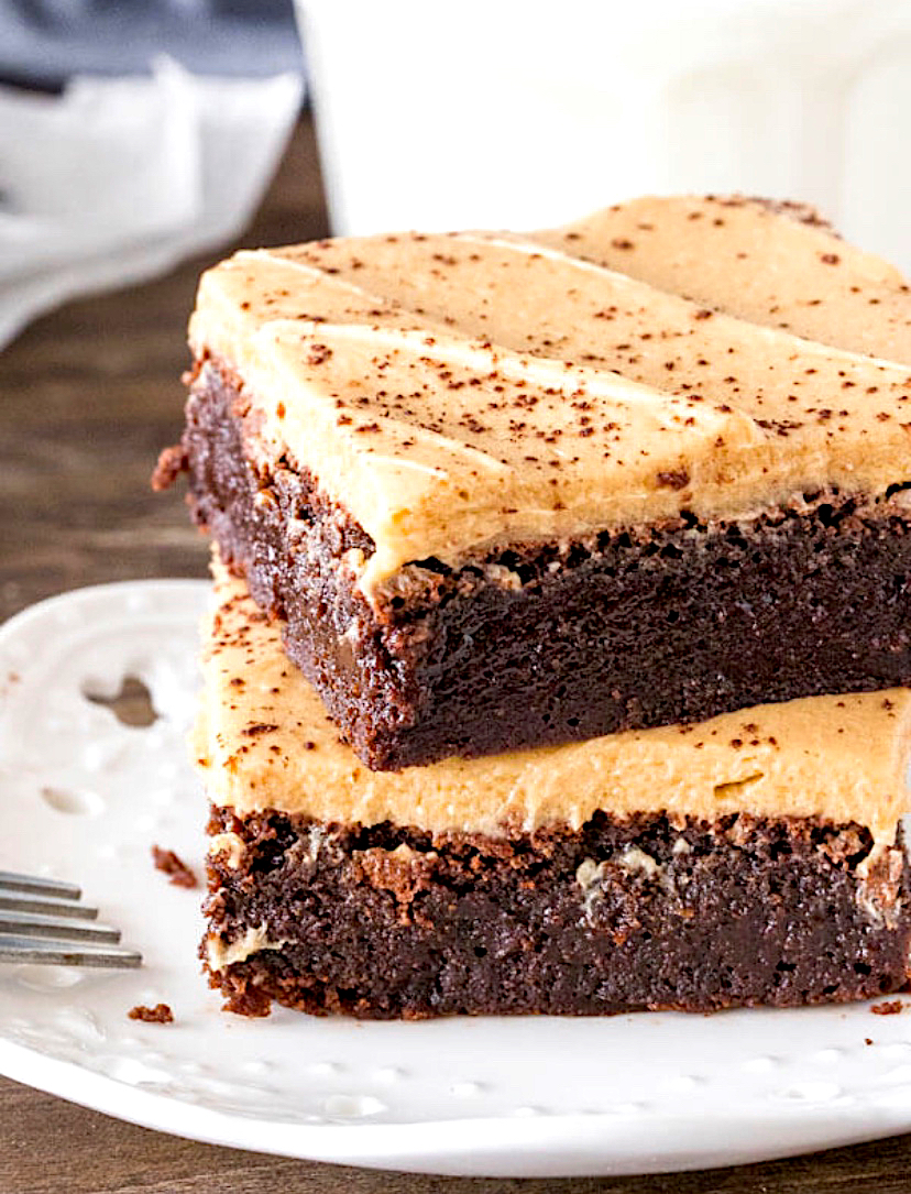 Mocha brownies with coffee frosting