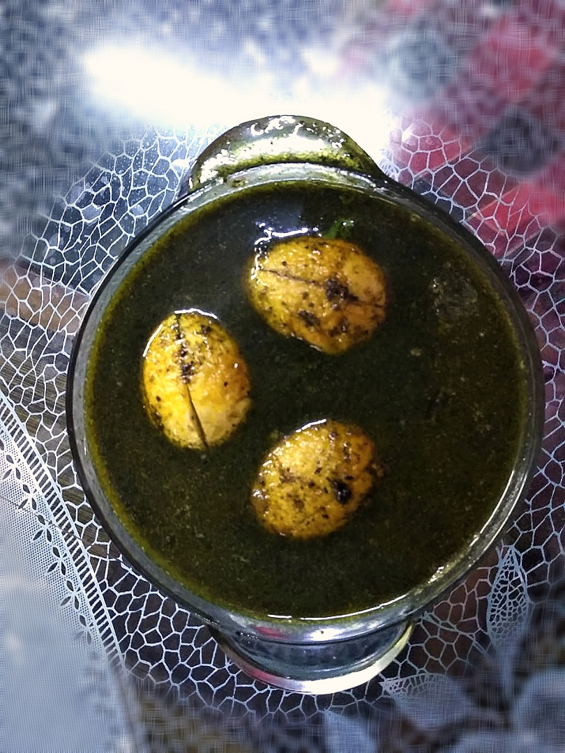 Skunk Vine Egg Curry (known as Bhedailotaa in Assamese)