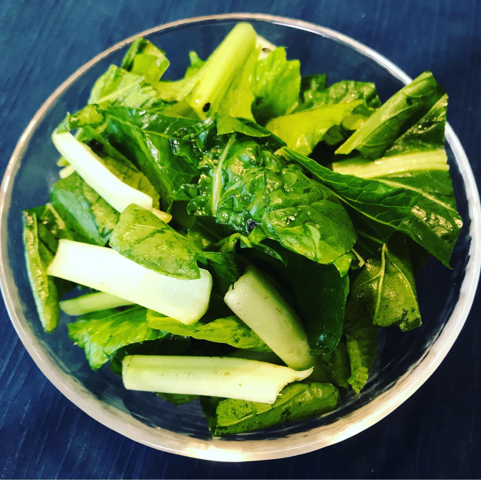 サラダ 小松菜 栄養満点スムージーや生食でサラダに‼️京小松菜とわさび菜のセット