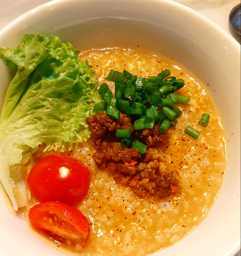 mince pork porridge
