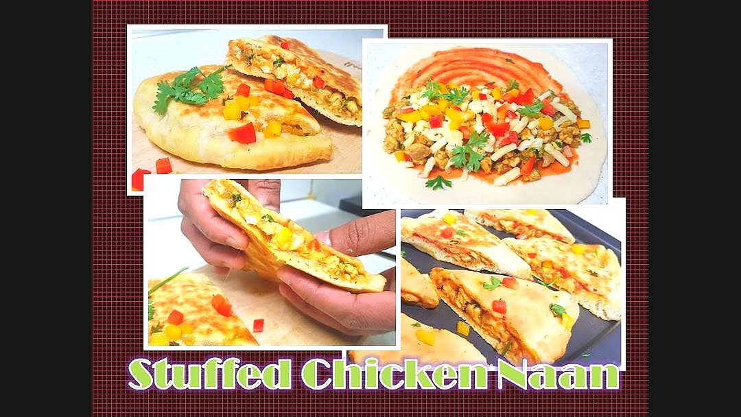 Chicken stuffed naan  Full recipe video available in my tube channel  #RichLe's Kitchen