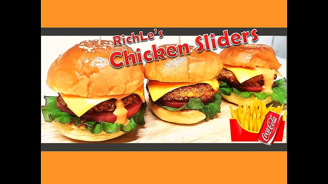 Chicken sliders # Restaurent style chicken sliders #burger #RichLe's Kitchen