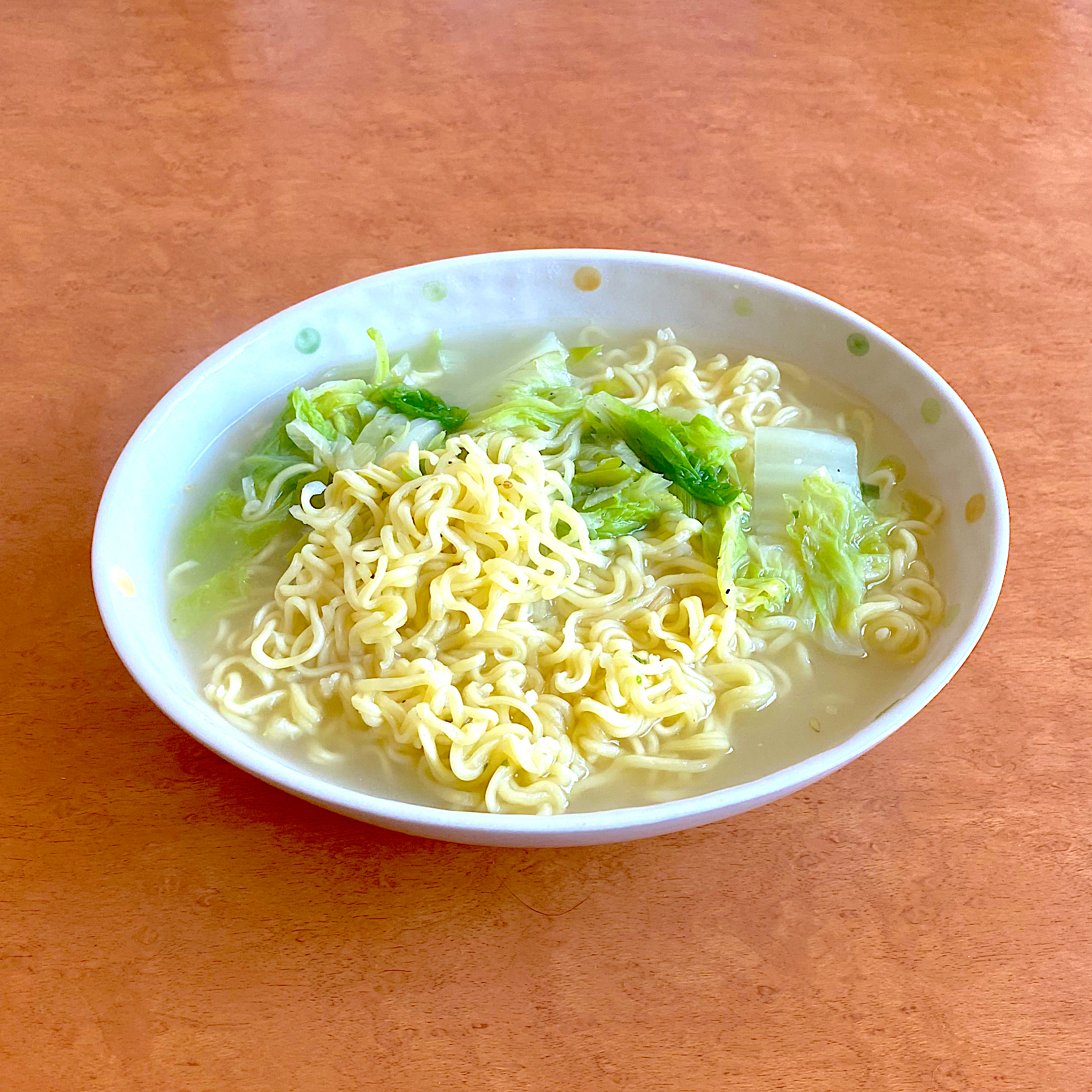 Simple lunch in the weekend, ramen no yasai