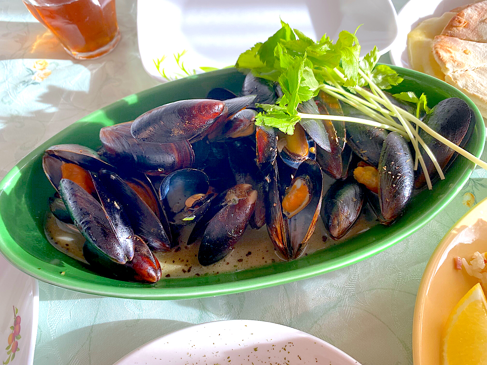 Baked Mussel  with Garlic butter