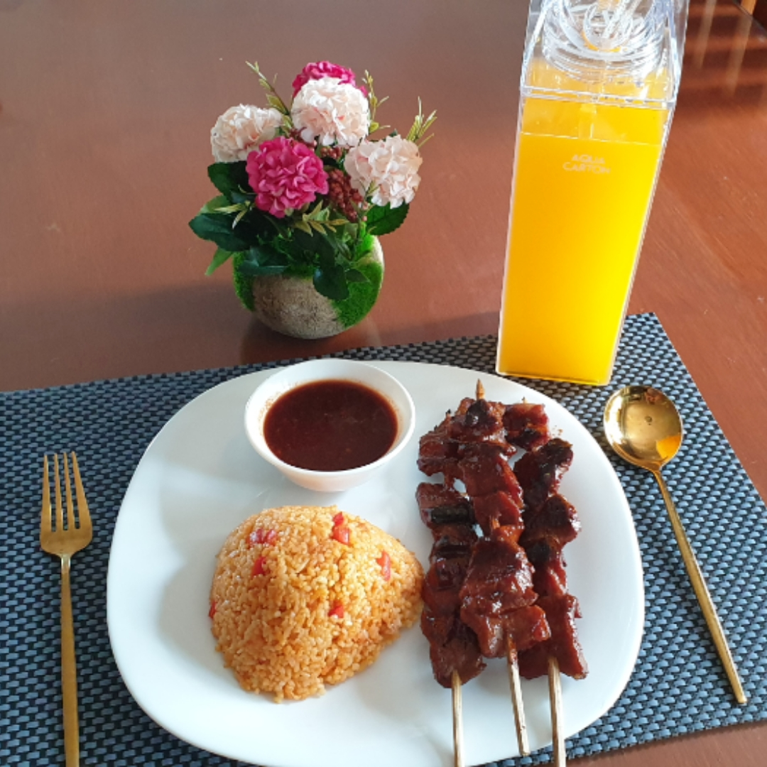 Pork Barbecue in Peanut BBQ Sauce with Java Rice