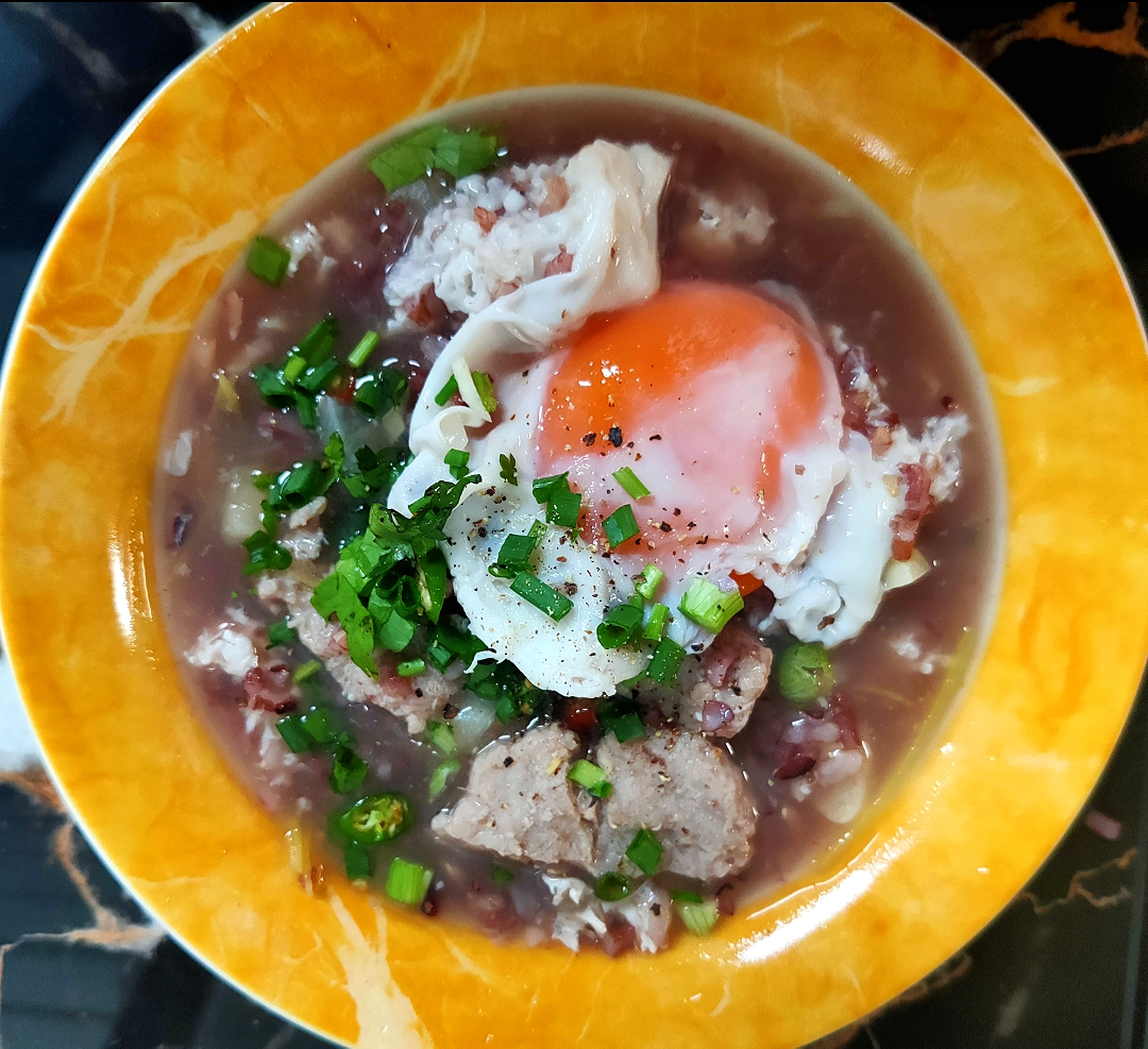 Ryeberry Soup with Egg.