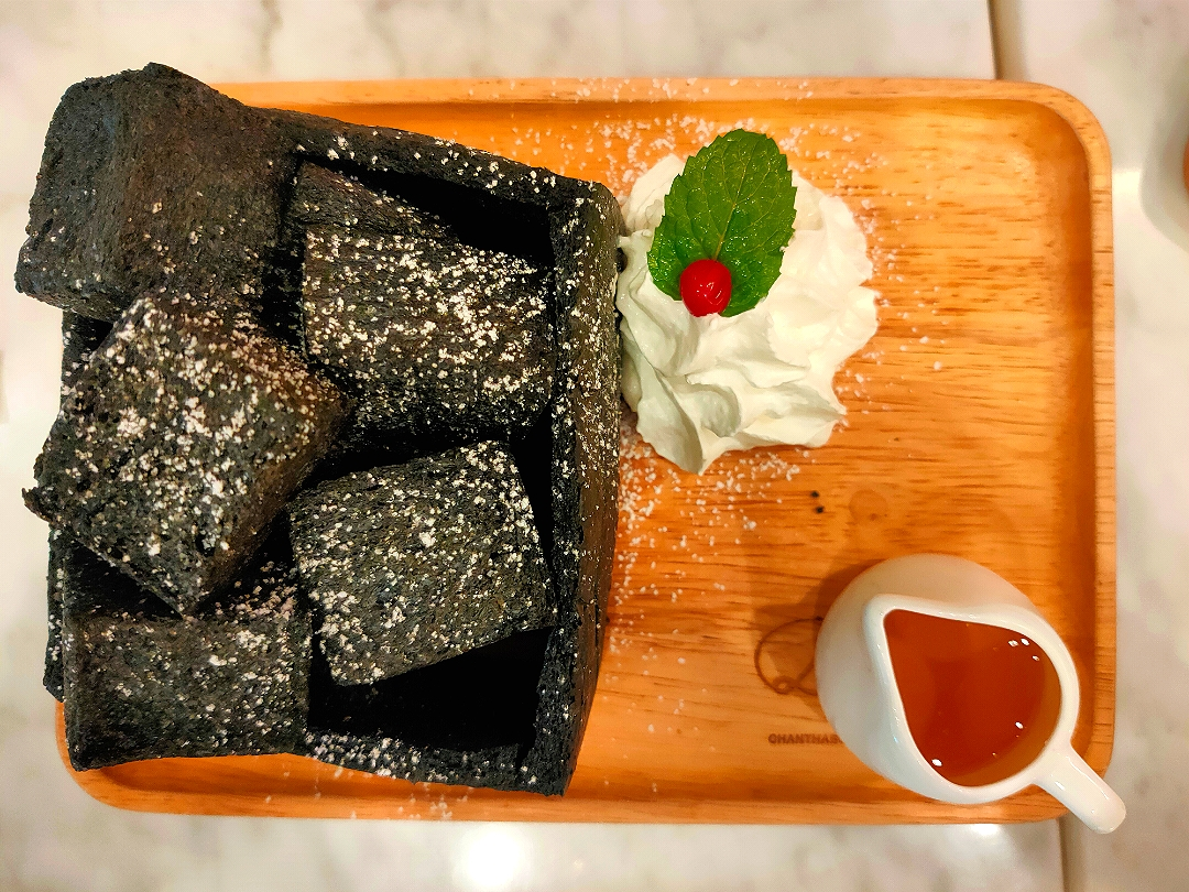Charcoal Bread with Honey.